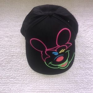 Disney Neon Mickey Mouse Embroidered Flat Bill Hat